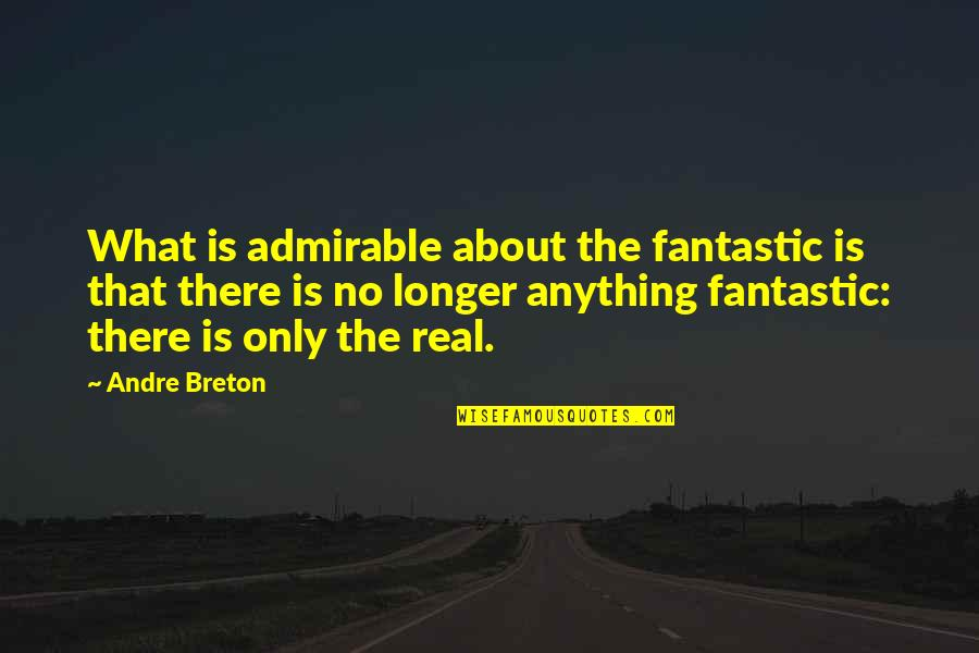 Fantastique Quotes By Andre Breton: What is admirable about the fantastic is that
