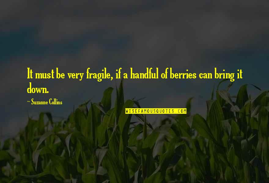Fanthom Quotes By Suzanne Collins: It must be very fragile, if a handful