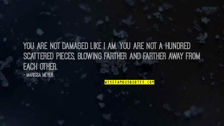 Farther Quotes By Marissa Meyer: You are not damaged like I am. You