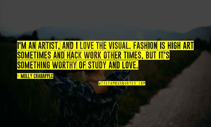 Fashion And Art Quotes By Molly Crabapple: I'm an artist, and I love the visual.