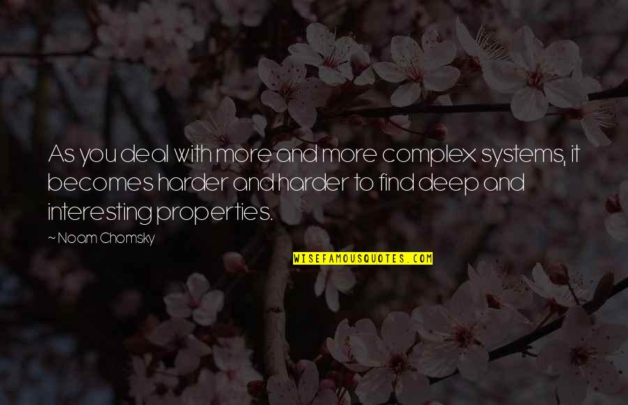 Fast Paced Lifestyle Quotes By Noam Chomsky: As you deal with more and more complex
