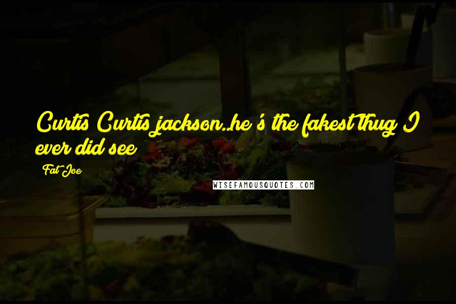 Fat Joe quotes: Curtis Curtis jackson..he's the fakest thug I ever did see