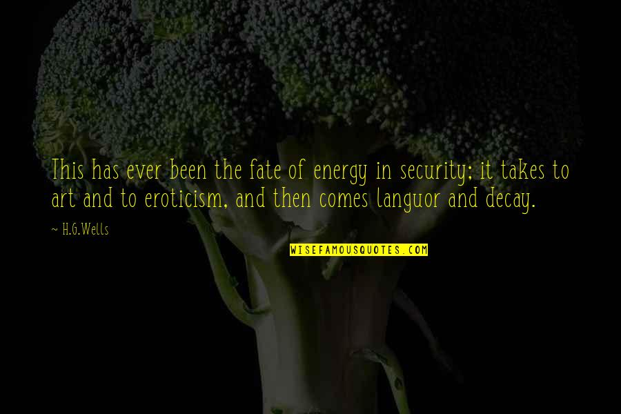 Fate Quotes By H.G.Wells: This has ever been the fate of energy