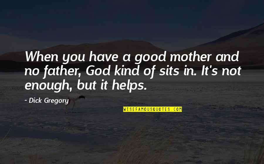 Father And Mother Quotes By Dick Gregory: When you have a good mother and no