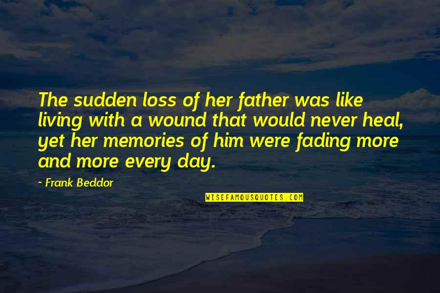 Father Death Day Quotes By Frank Beddor: The sudden loss of her father was like