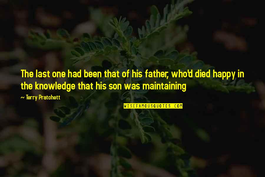 Father Who Died Quotes By Terry Pratchett: The last one had been that of his