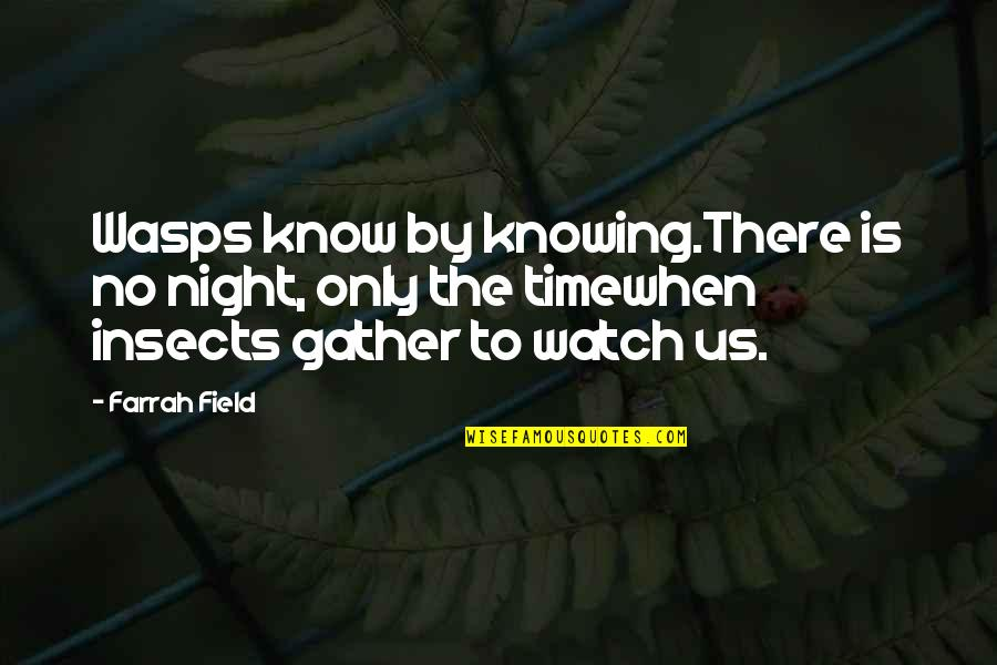 Fatigue Driving Quotes By Farrah Field: Wasps know by knowing.There is no night, only