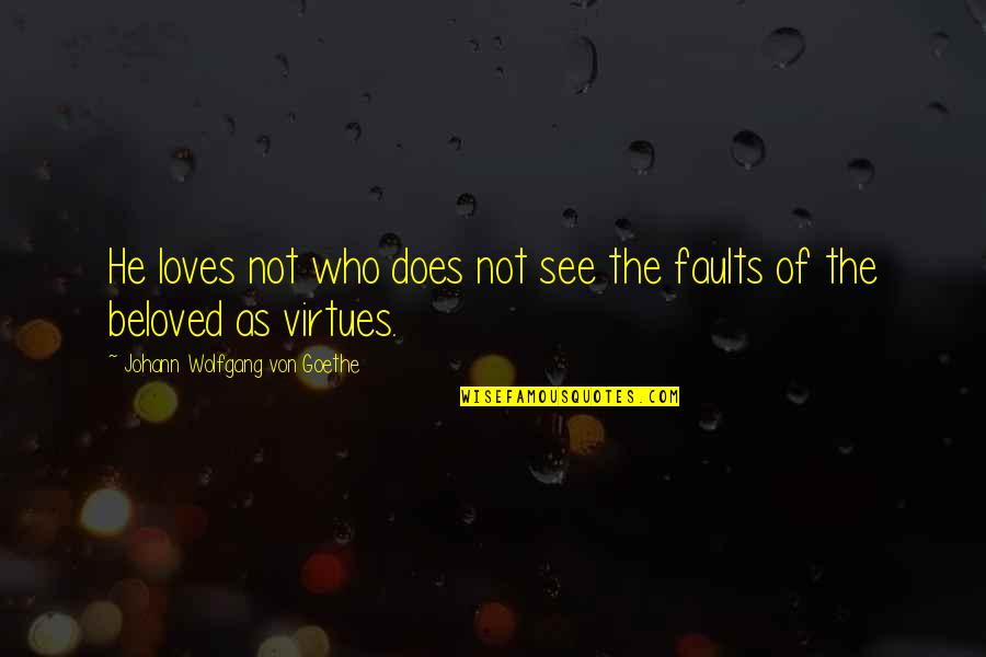 Faults Quotes By Johann Wolfgang Von Goethe: He loves not who does not see the