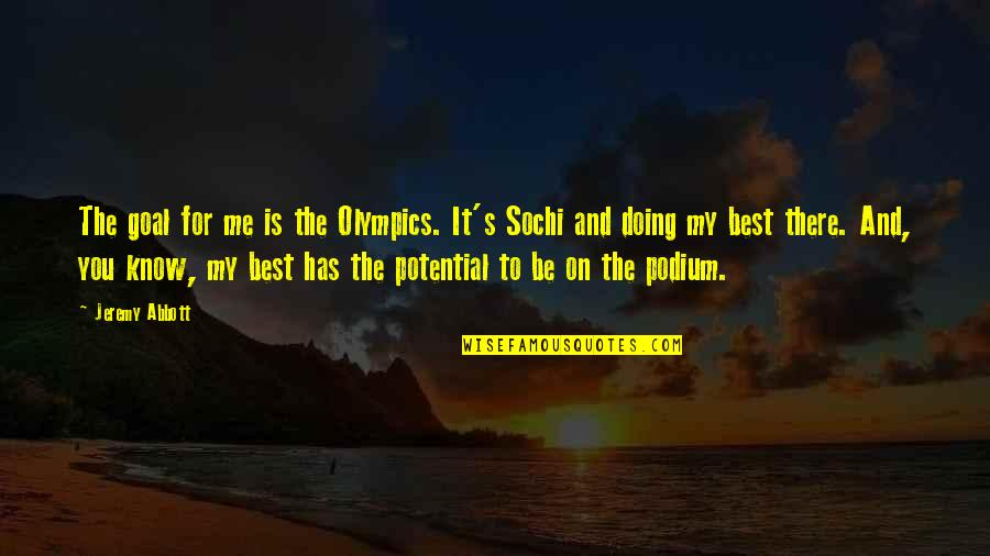Favicon Quotes By Jeremy Abbott: The goal for me is the Olympics. It's
