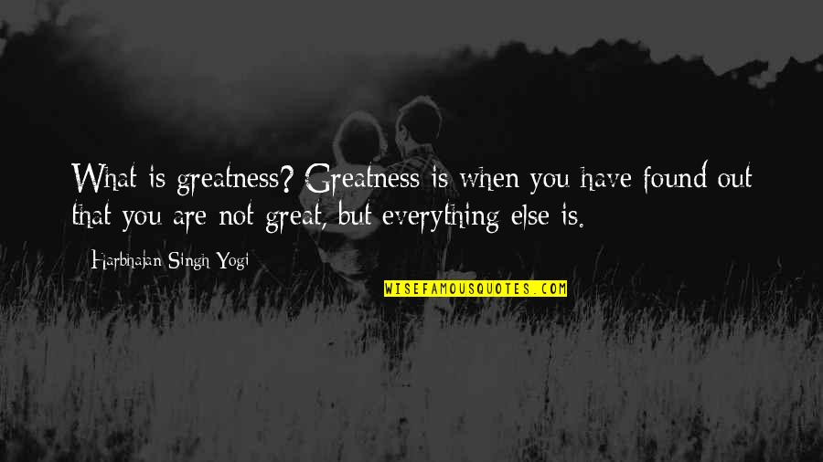 Feamle Quotes By Harbhajan Singh Yogi: What is greatness? Greatness is when you have