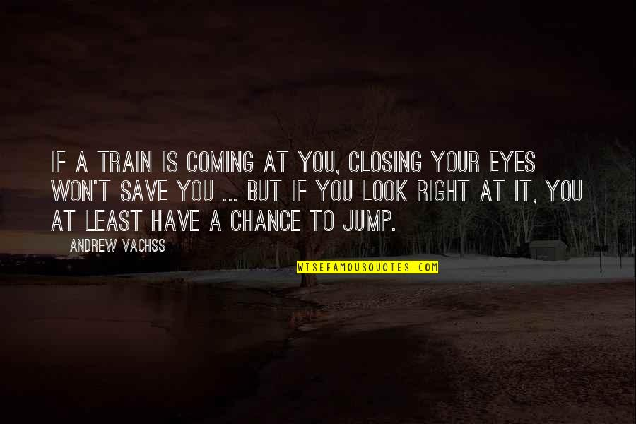 Fear In Your Eyes Quotes By Andrew Vachss: If a train is coming at you, closing