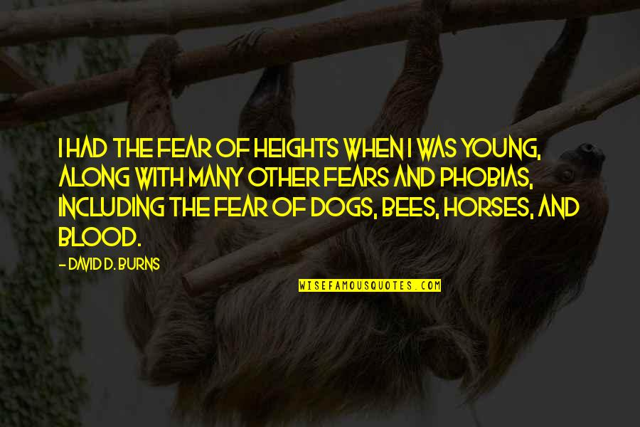 Fear Of The Other Quotes By David D. Burns: I had the fear of heights when I