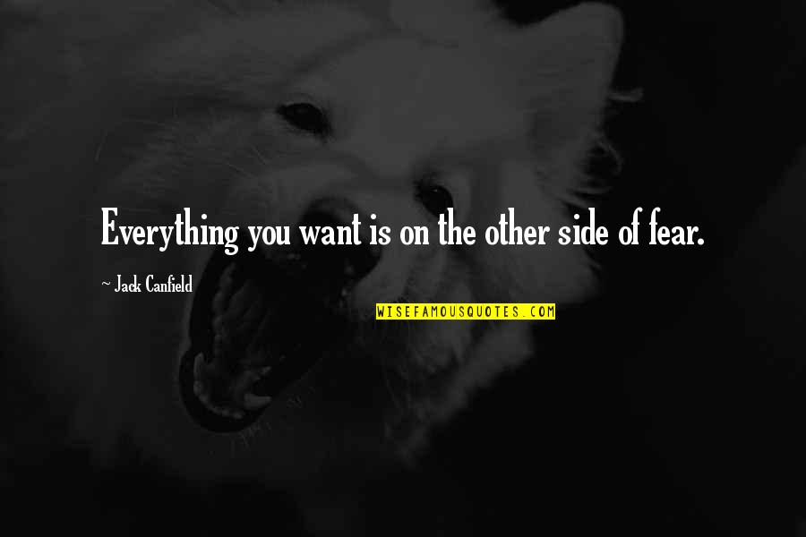 Fear Of The Other Quotes By Jack Canfield: Everything you want is on the other side