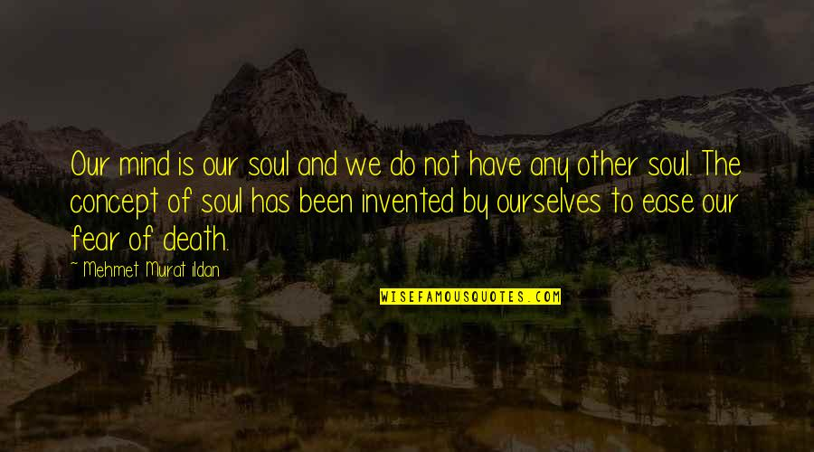 Fear Of The Other Quotes By Mehmet Murat Ildan: Our mind is our soul and we do
