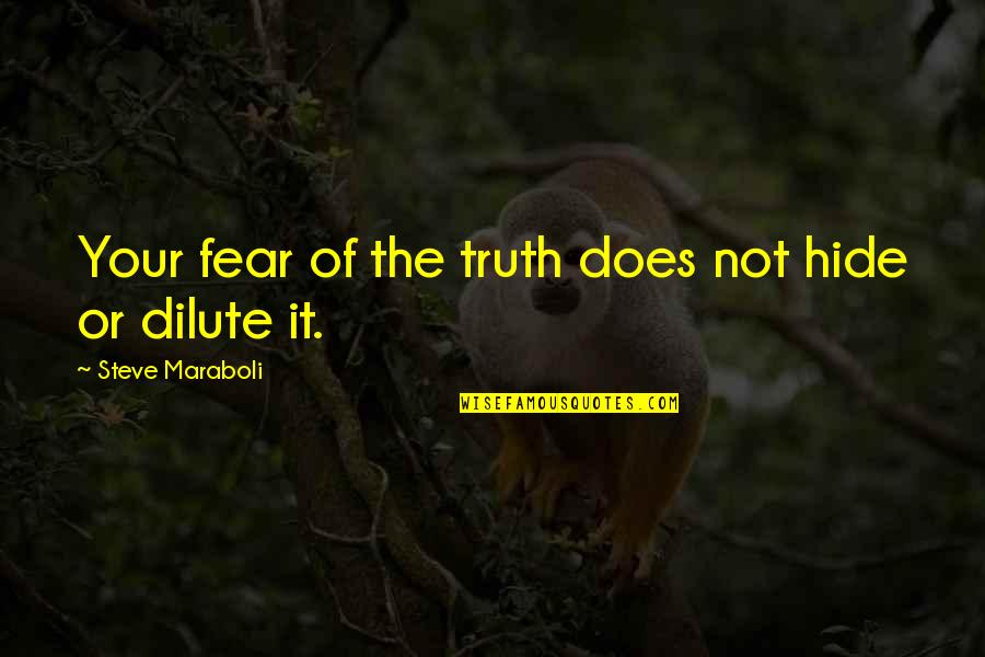 Fear Of The Truth Quotes By Steve Maraboli: Your fear of the truth does not hide