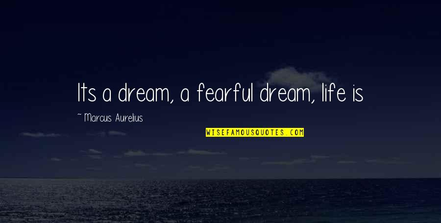 Fearful Life Quotes By Marcus Aurelius: Its a dream, a fearful dream, life is
