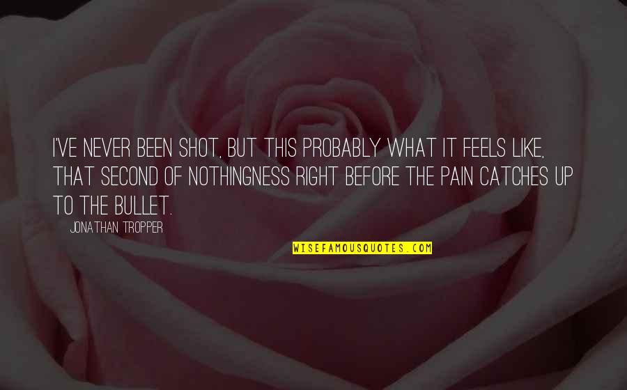 Fearless Youth Quotes By Jonathan Tropper: I've never been shot, but this probably what