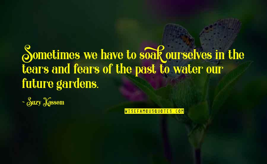 Fears Of The Future Quotes By Suzy Kassem: Sometimes we have to soak ourselves in the