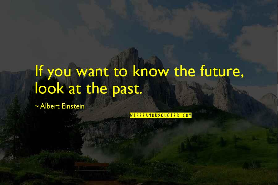 Federalist 70 Quotes By Albert Einstein: If you want to know the future, look