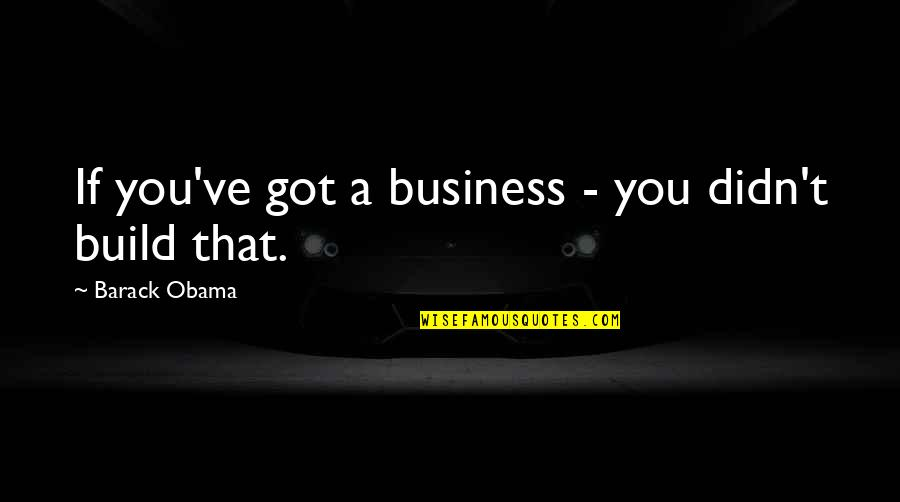 Feeling Dizzy Quotes By Barack Obama: If you've got a business - you didn't