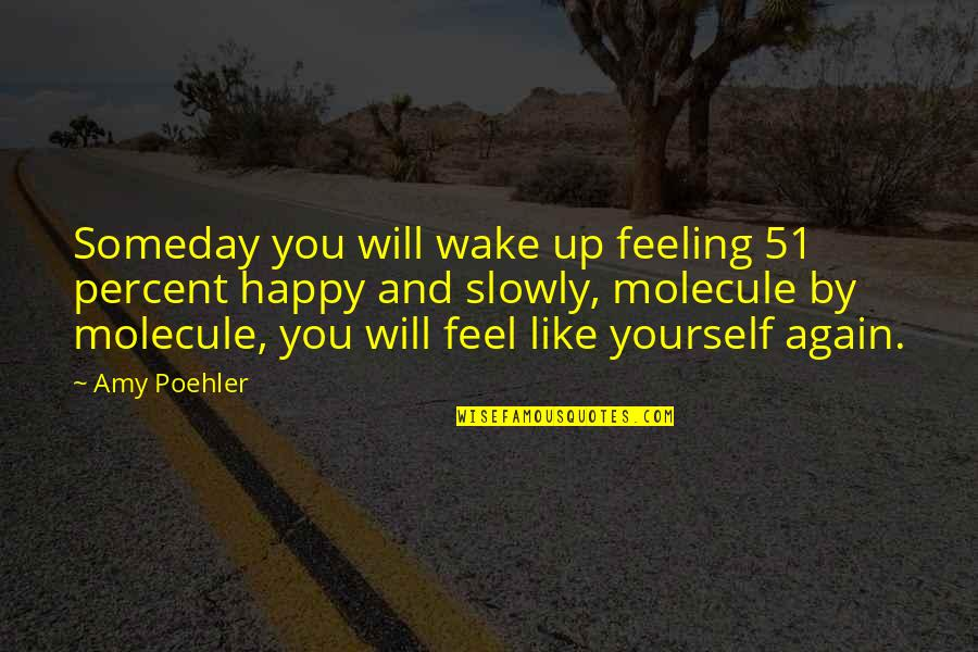 Feeling Like Yourself Quotes By Amy Poehler: Someday you will wake up feeling 51 percent
