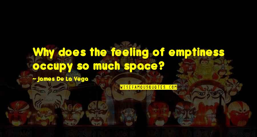 Feeling Of Emptiness Quotes By James De La Vega: Why does the feeling of emptiness occupy so