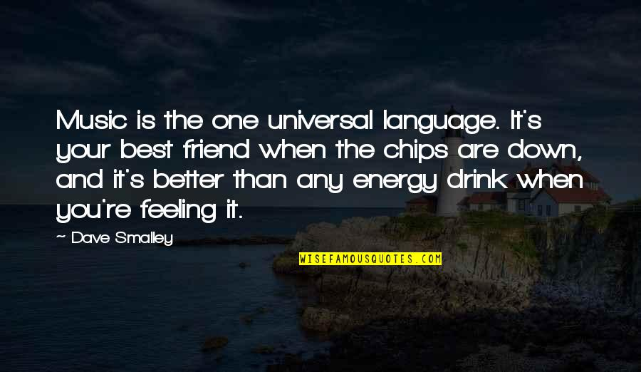 Feeling The Best Quotes By Dave Smalley: Music is the one universal language. It's your