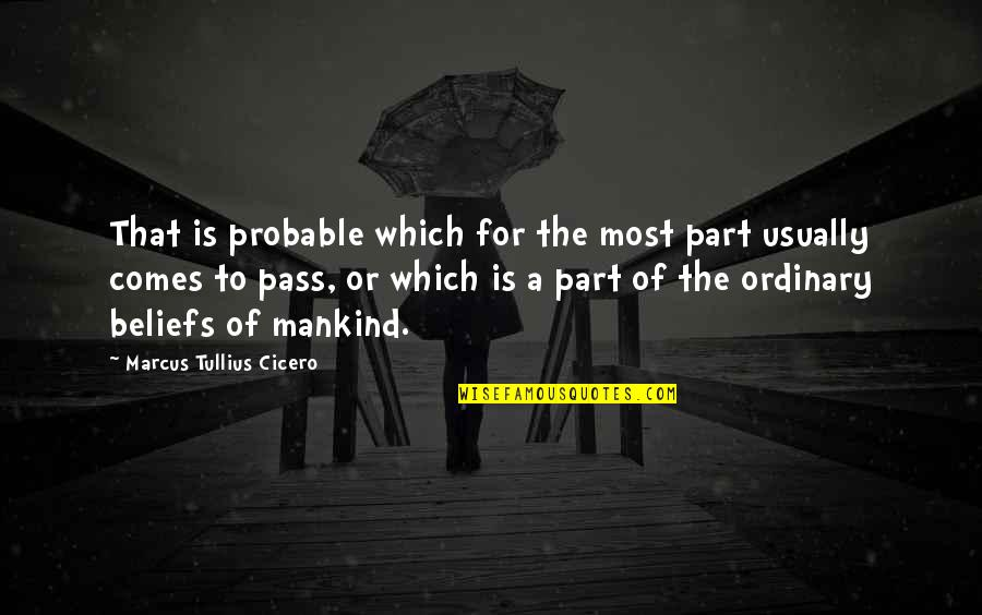 Feeling The Pain Of Others Quotes By Marcus Tullius Cicero: That is probable which for the most part