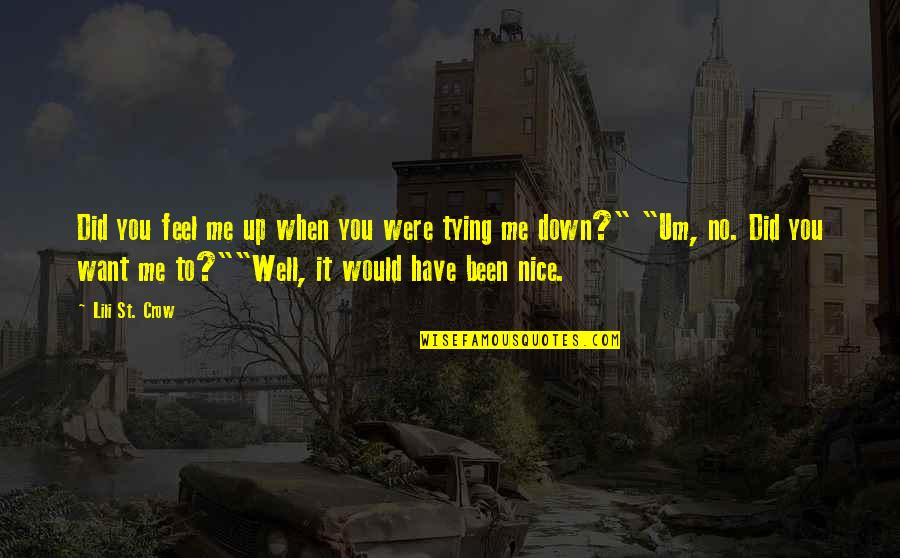 Feel'st Quotes By Lili St. Crow: Did you feel me up when you were