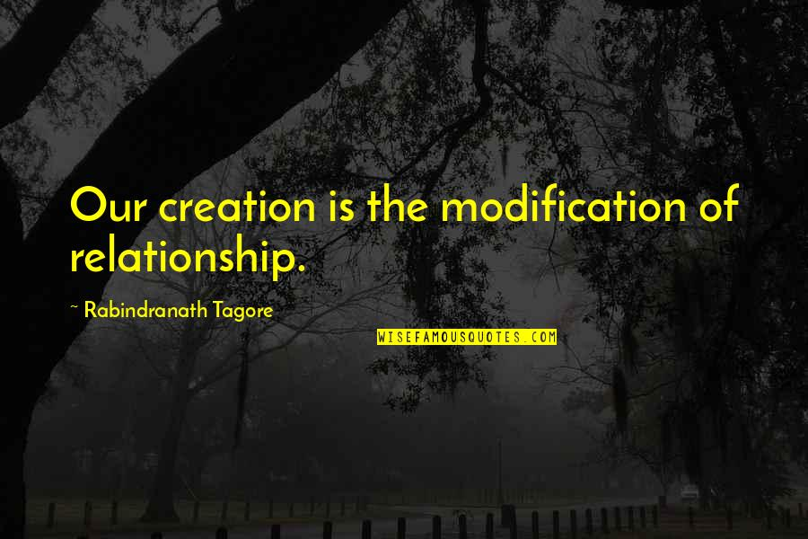 Felix Unger Tv Quotes By Rabindranath Tagore: Our creation is the modification of relationship.