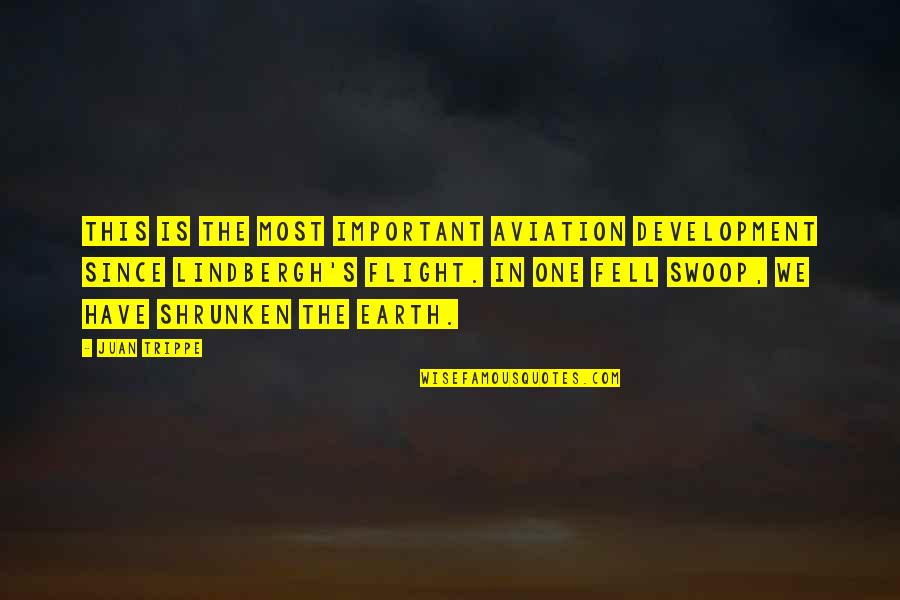 Fell's Quotes By Juan Trippe: This is the most important aviation development since