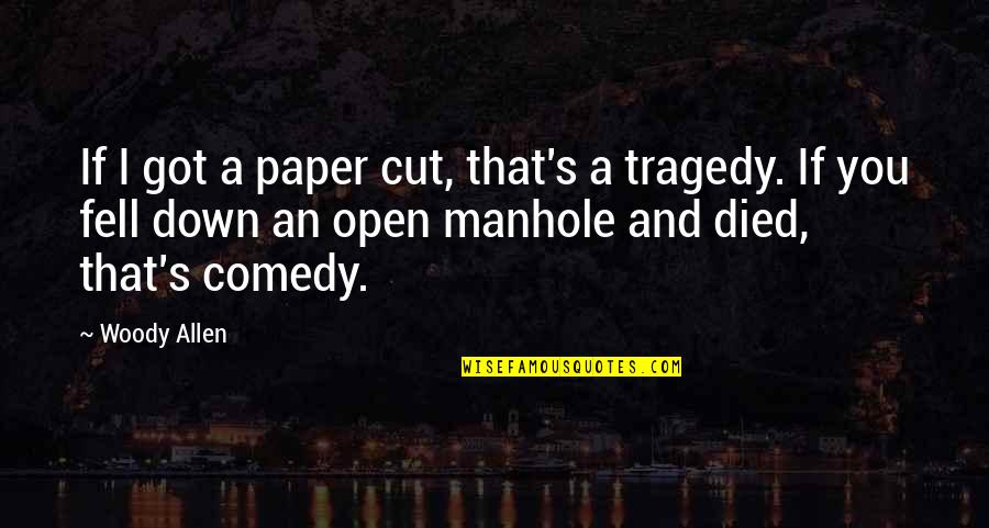 Fell's Quotes By Woody Allen: If I got a paper cut, that's a