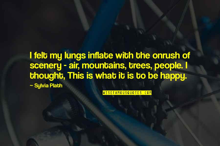 Felt Happy Quotes By Sylvia Plath: I felt my lungs inflate with the onrush