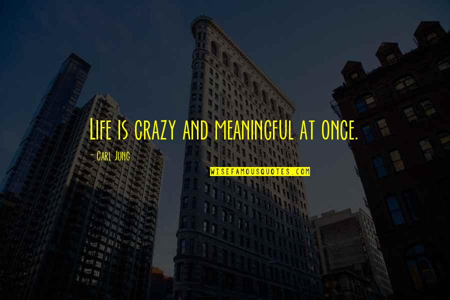 Females And Drama Quotes By Carl Jung: Life is crazy and meaningful at once.