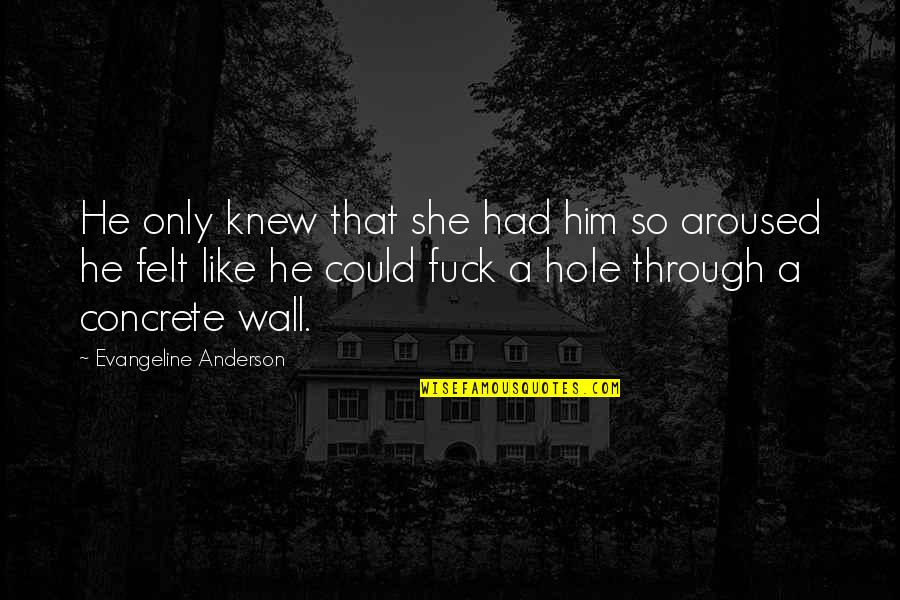 Fernet Quotes By Evangeline Anderson: He only knew that she had him so