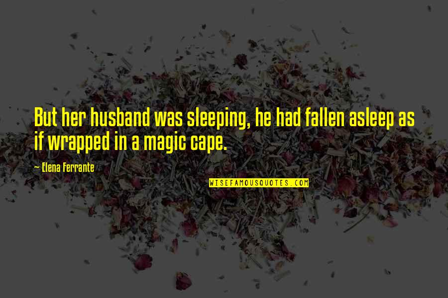 Ferrante Quotes By Elena Ferrante: But her husband was sleeping, he had fallen
