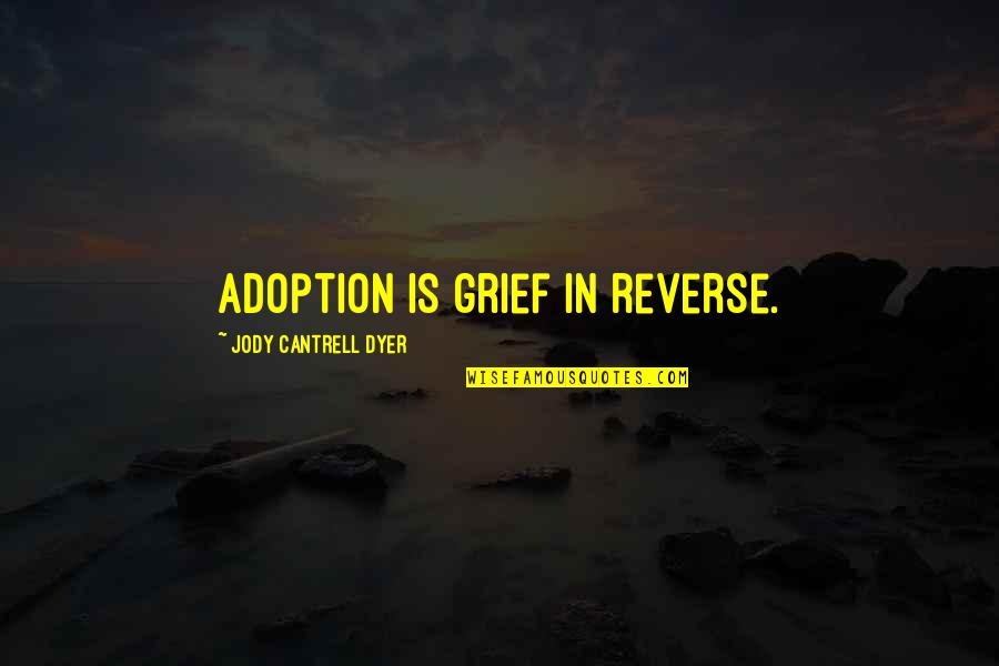 Fertility Quotes By Jody Cantrell Dyer: Adoption is grief in reverse.