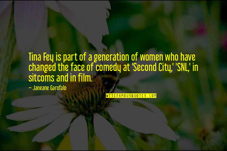 Fey's Quotes By Janeane Garofalo: Tina Fey is part of a generation of