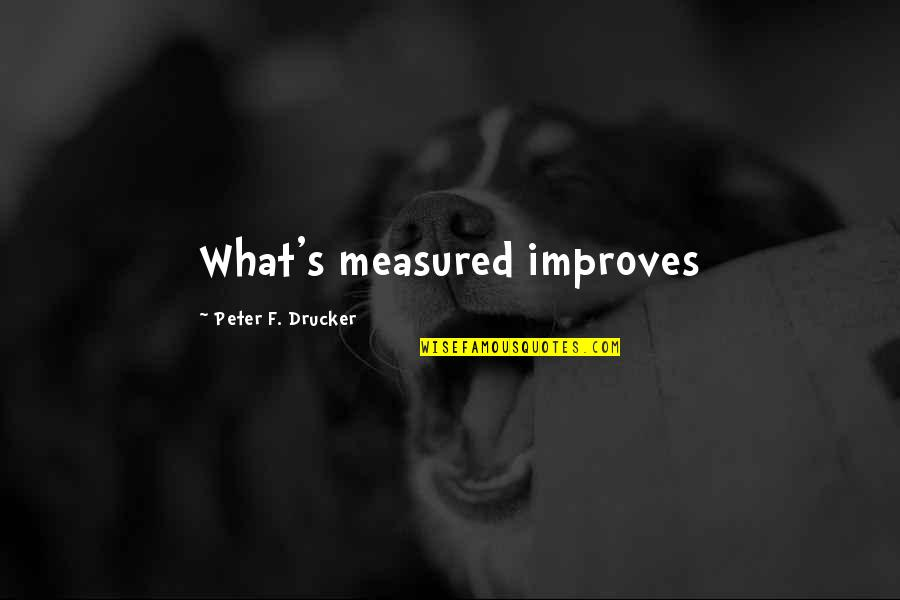 F'gotten Quotes By Peter F. Drucker: What's measured improves