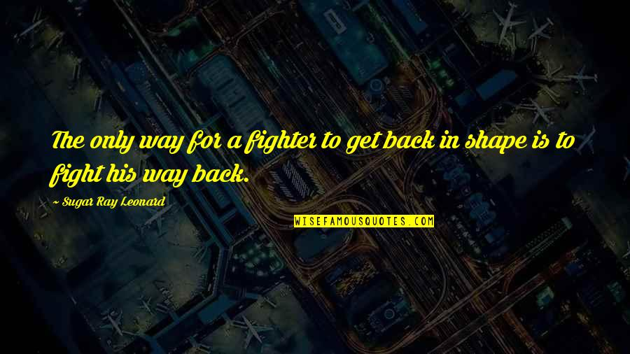 Fighter Quotes By Sugar Ray Leonard: The only way for a fighter to get