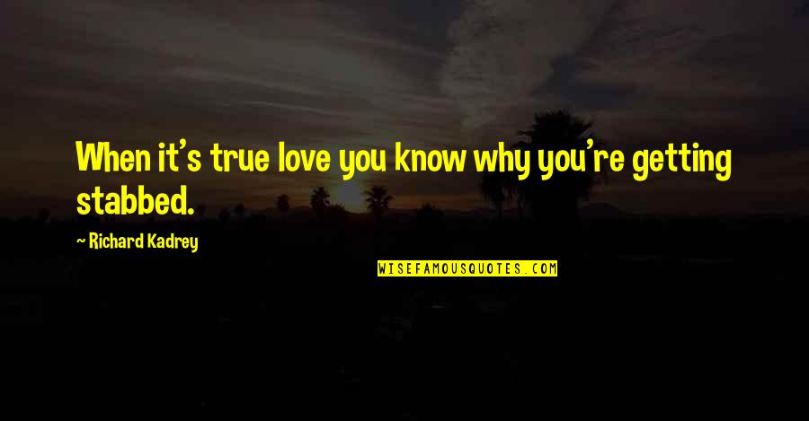 Fighting Chronic Illness Quotes By Richard Kadrey: When it's true love you know why you're