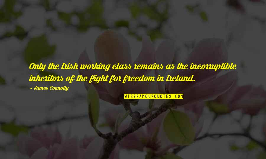 Fighting For Freedom Quotes By James Connolly: Only the Irish working class remains as the
