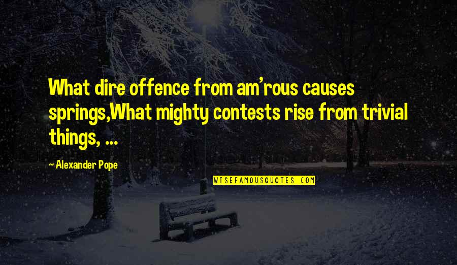 Fighting For The Things You Love Quotes By Alexander Pope: What dire offence from am'rous causes springs,What mighty