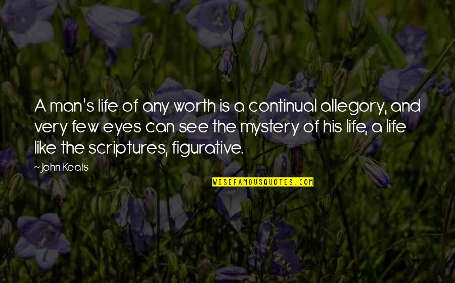 Figurative Quotes By John Keats: A man's life of any worth is a