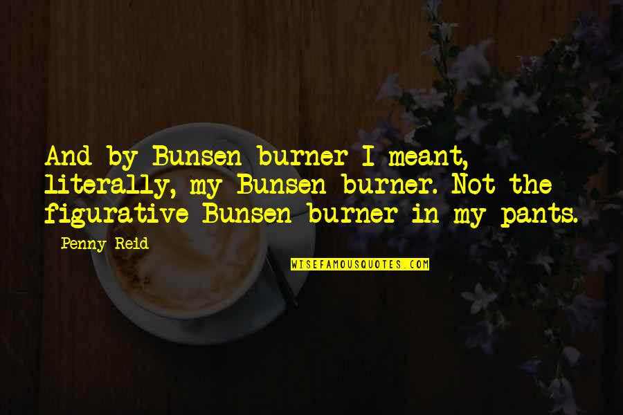 Figurative Quotes By Penny Reid: And by Bunsen burner I meant, literally, my