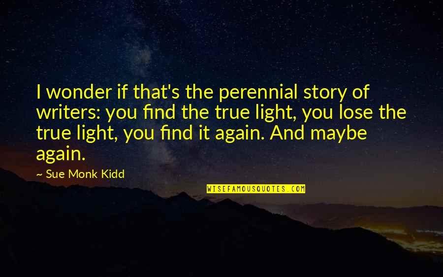 Find You Again Quotes By Sue Monk Kidd: I wonder if that's the perennial story of