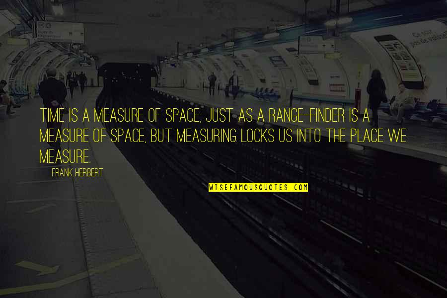 Finder Quotes By Frank Herbert: Time is a measure of space, just as