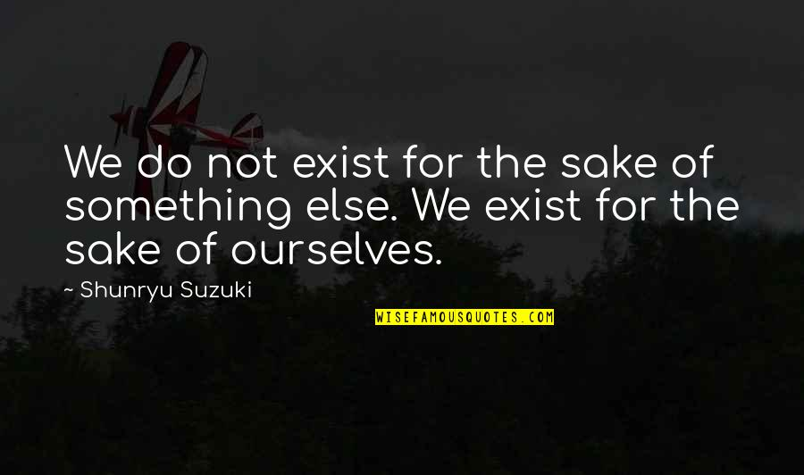 Finding Joy In The Journey Quotes By Shunryu Suzuki: We do not exist for the sake of