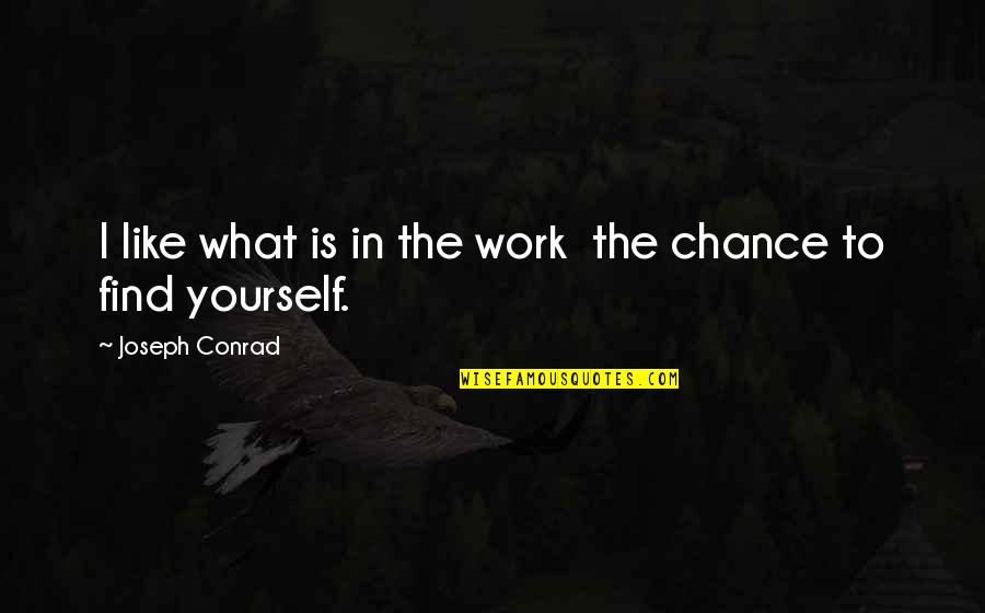 Finding Yourself Quotes By Joseph Conrad: I like what is in the work the