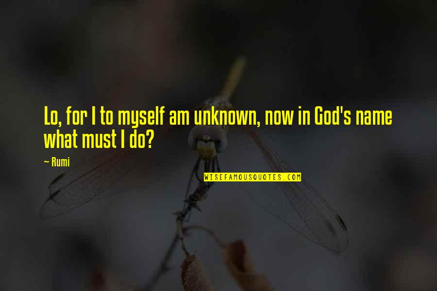 Finding Yourself Quotes By Rumi: Lo, for I to myself am unknown, now